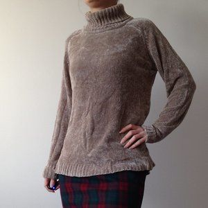 Coquine - Soft Chenille Light Brown Sweater